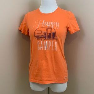 Life Is Good Happy Camper women's tee orange XS